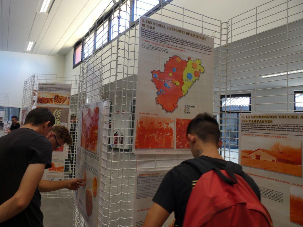Exposition des travaux réalisés par les CAP 2ème année – BTP CFA Poitou-Charentes.