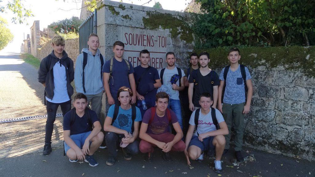 Le groupe d'étudiants.